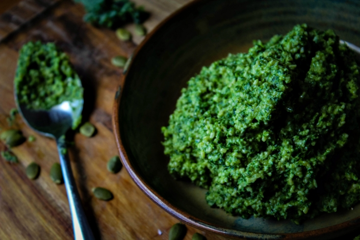 Inked in Colour - Kale Pesto